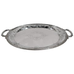 Antique Gorham Maintenon Sterling Silver Serving Tray