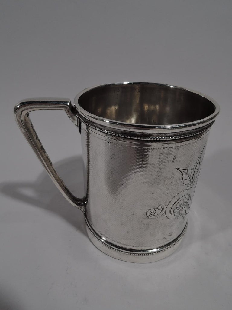American Classical Antique Gorham Modern Classical Coin Silver Baby Cup For Sale