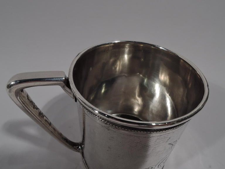 American Antique Gorham Modern Classical Coin Silver Baby Cup For Sale