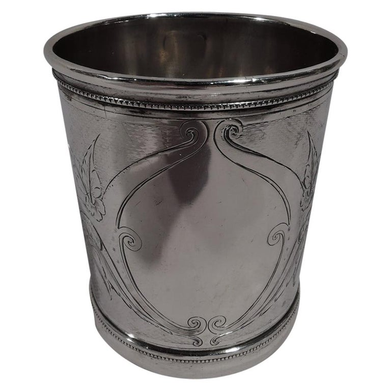 Antique Gorham Modern Classical Coin Silver Baby Cup For Sale