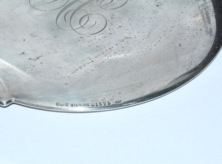 20th Century Antique Gorham Sterling Silver Hand Mirror For Sale
