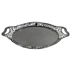 Antique Gorham Sterling Silver Pierced Gallery Tray