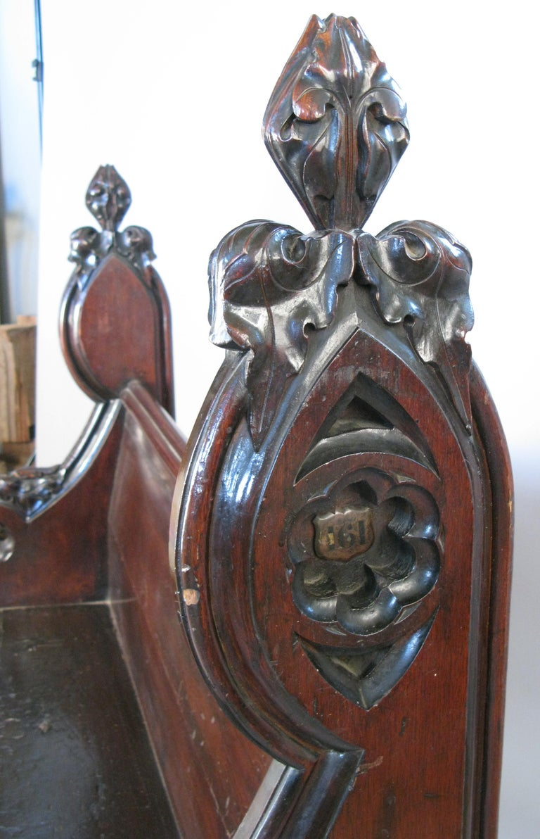 Antique Gothic Hall Bench For Sale 1