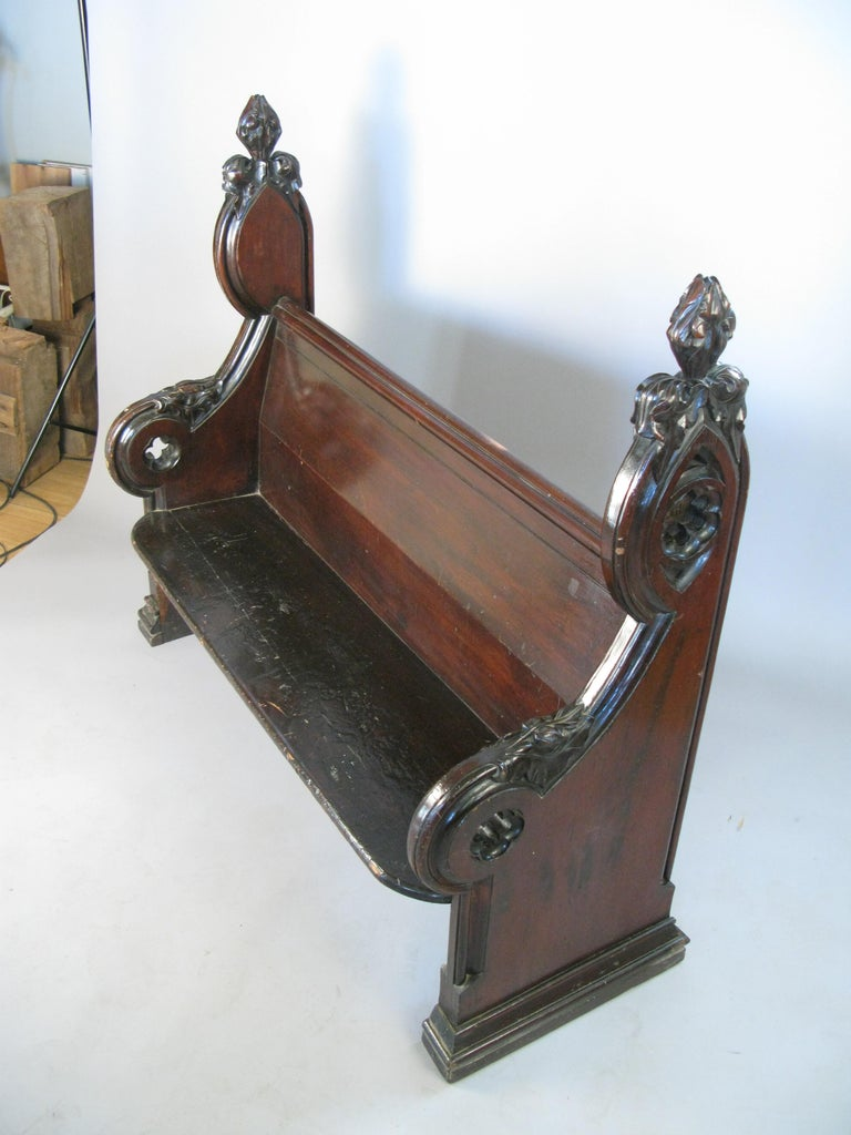 Antique Gothic Hall Bench For Sale 3