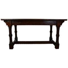 Antique Gothic Library / Farm Table