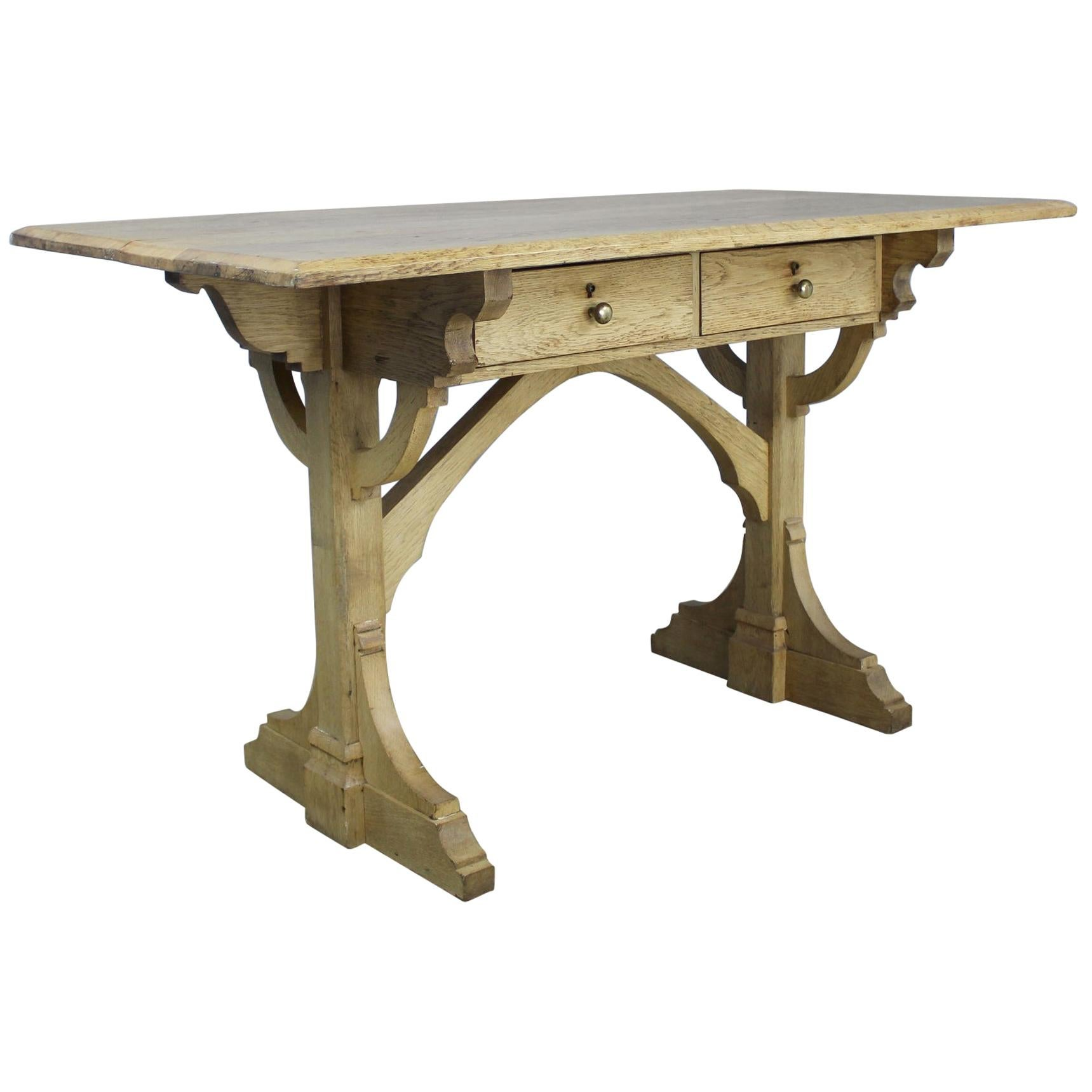 Antique Gothic Oak Desk