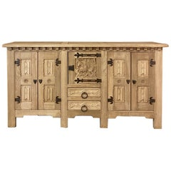 Antique Gothic Rustic Buffet