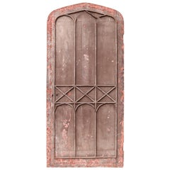 Antique Gothic Style Arched Studded Door