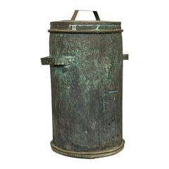 Antique Grain Bin, French, Copper, Farmhouse Silo, Fireside Victorian circa 1890