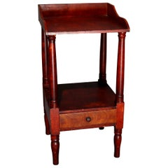 Antique Grain Painted Softwood Single Drawer Washstand, circa 1850