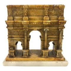 Antique Grand Tour Arch of Constantine's Triumph Miniature Architecture Model
