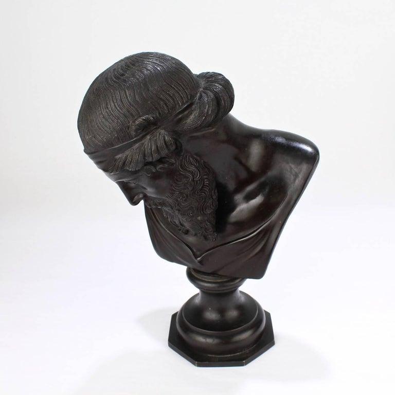 Antique Grand Tour Bronze Bust of Dionysius For Sale 5