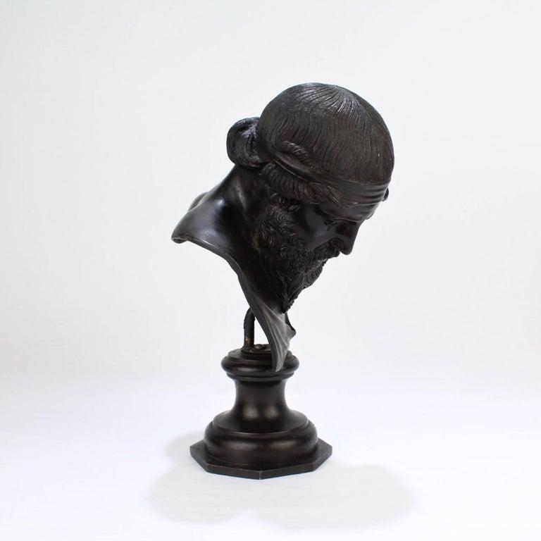 Antique Grand Tour Bronze Bust of Dionysius For Sale 1