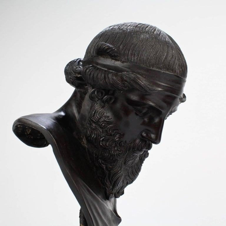 Antique Grand Tour Bronze Bust of Dionysius For Sale 2