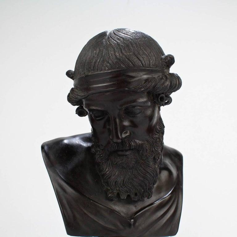 Antique Grand Tour Bronze Bust of Dionysius For Sale 3
