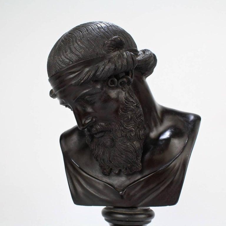 Antique Grand Tour Bronze Bust of Dionysius For Sale 4