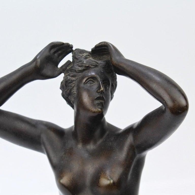 Antique Grand Tour Bronze Sculpture of a Venus For Sale 6