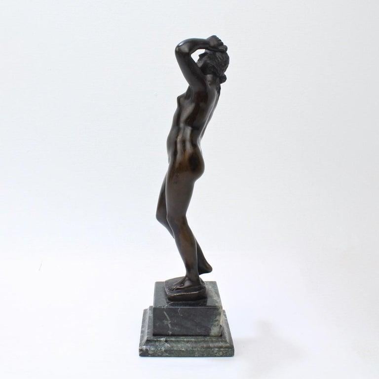 Antique Grand Tour Bronze Sculpture of a Venus In Good Condition For Sale In Philadelphia, PA