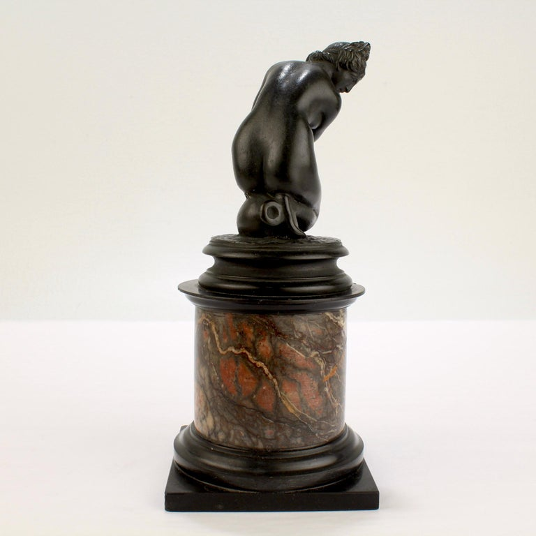 19th Century Antique Grand Tour Bronze Sculpture of the Crouching Venus after Giambologna For Sale