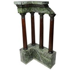 Antique Grand Tour Marble Bronze Corinthian Column Italian Neoclassical Ruins
