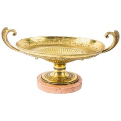 Antique Grand Tour Neoclassical Gilt Bronze Centre Piece 19th Century