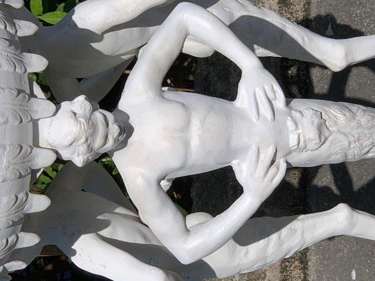 Antique Grand Tour Pompeian Cast Iron Plant Stand or Pedestal For Sale 5