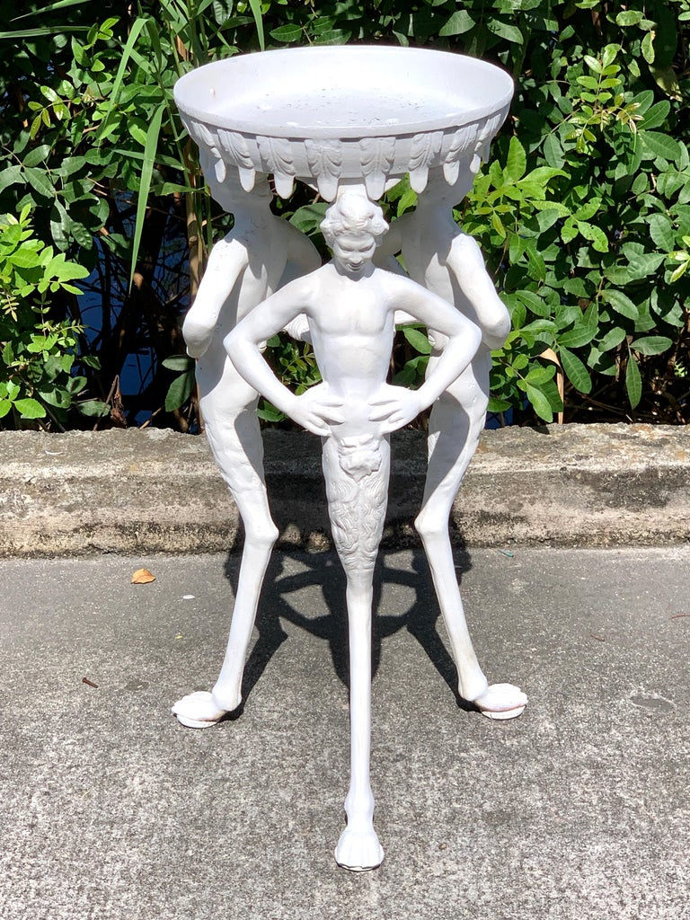 European Antique Grand Tour Pompeian Cast Iron Plant Stand or Pedestal For Sale