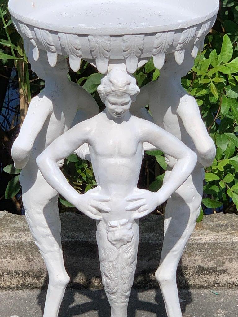 Antique Grand Tour Pompeian Cast Iron Plant Stand or Pedestal For Sale 4