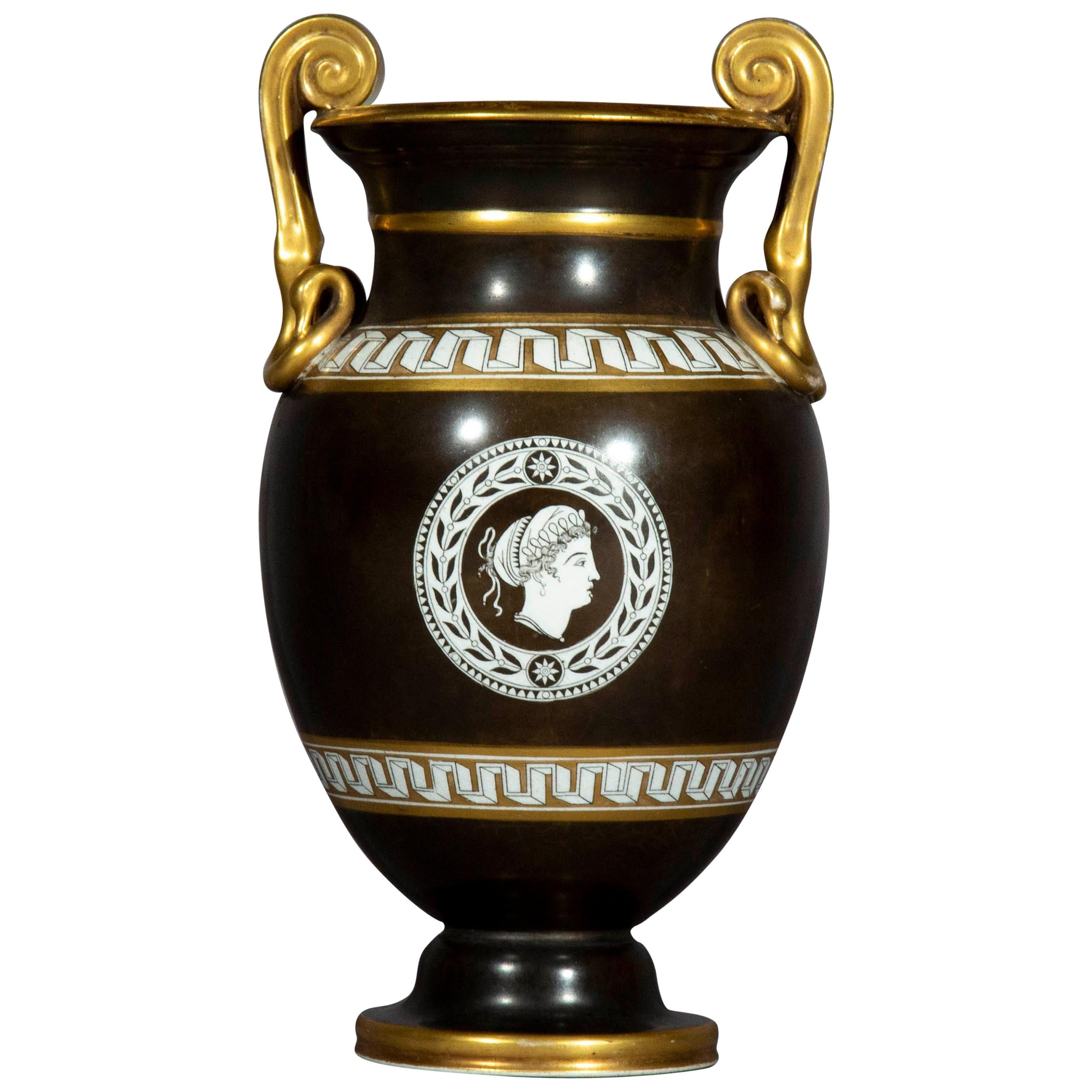 Antique Grand Tour Porcelain Vase, Early 19th Century