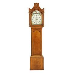 Antique Grandfather Clock, Long Case Clock, Oak and Walnut, England, 1870, B1536