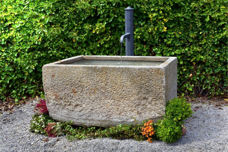 French Antique Granite Trough, 18th Century For Sale