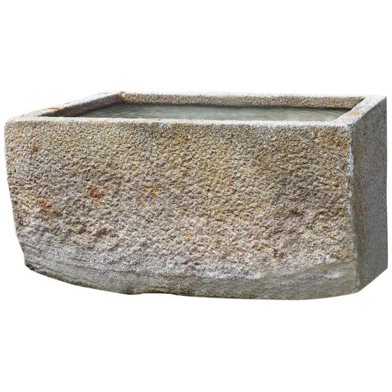 Antique Granite Trough, 18th Century For Sale