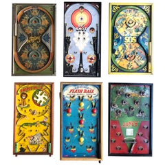 Antique Graphic Tabletop Pinball Game Collection '6'