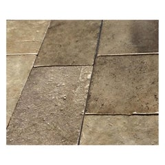 Gray Barre Monptelier Limestone Flooring Authentic 17th Century of France