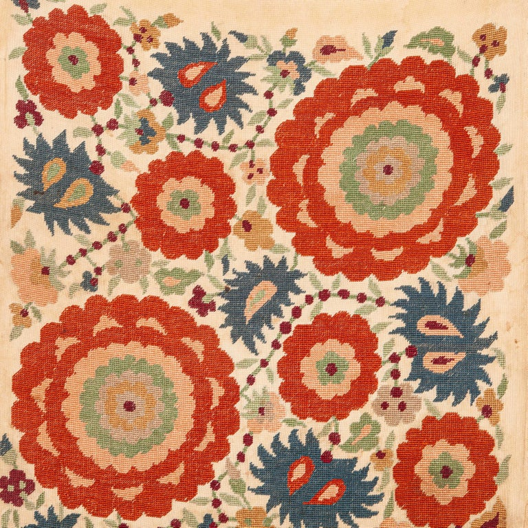 Suzani Antique Greek Embroidery from Eastern Europe in the Style of Ottoman Ones For Sale