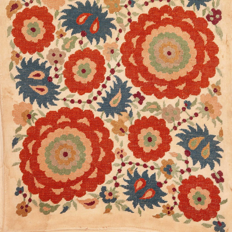 Macedonian Antique Greek Embroidery from Eastern Europe in the Style of Ottoman Ones For Sale