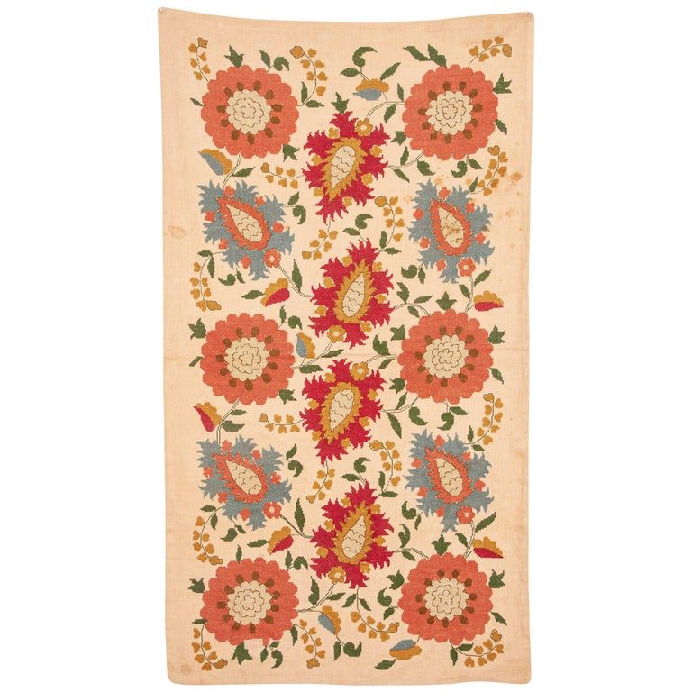 Antique Greek Embroidery from Eastern Europe in the Style of Ottoman Ones For Sale
