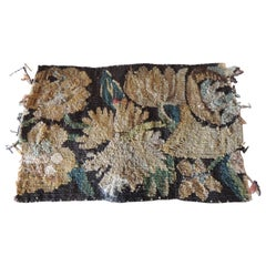 Antique Green and Yellow Verdure Tapestry Fragment