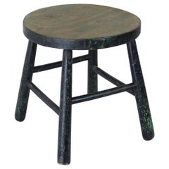 Antique Green Milking Stool