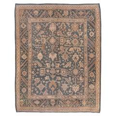 Antique Green Turkish Oushak Carpet, Allover Field, Green Palette