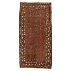 Antique Grey Background Art Deco Period Samarkand Rug with Pomegranates