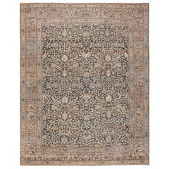 Antique Grey Background Khorassan Persian Rug. Size: 11 ft 4 in x 14 ft 6 in