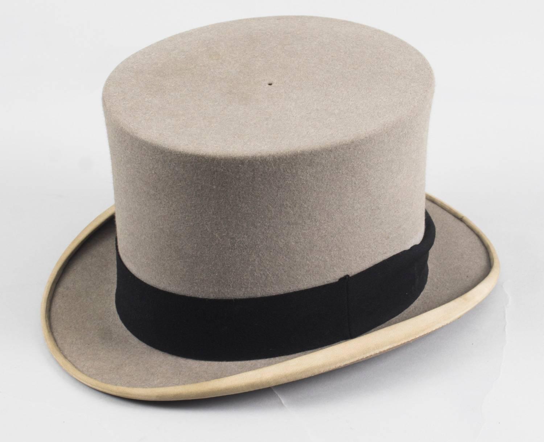 Antique Grey Felt Top Hat by Scott and Co 45911655ce0d