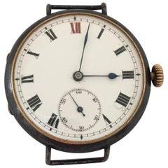 Antique Gunmetal Swiss Trench Watch