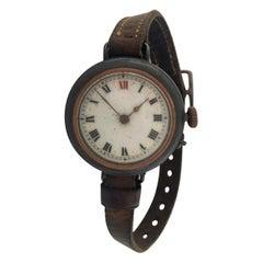 Antique Gunmetal Trench Watch