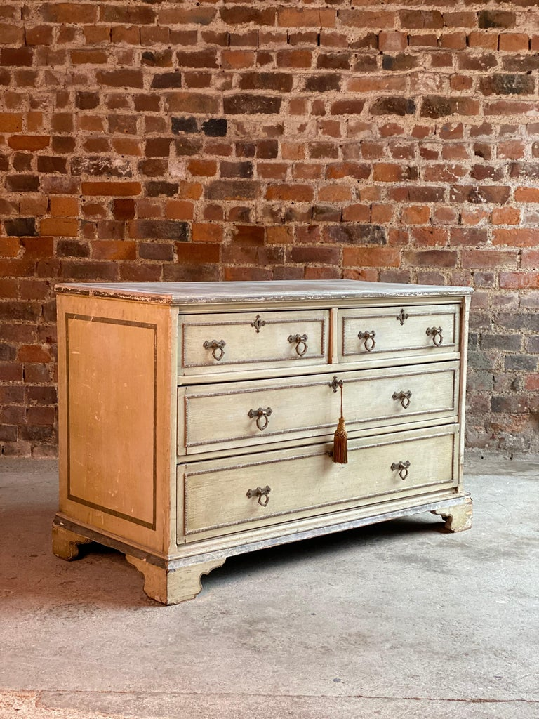 Antique Gustavian Chest of Drawers Commode, Swedish, 19th Century, circa 1870 For Sale 4