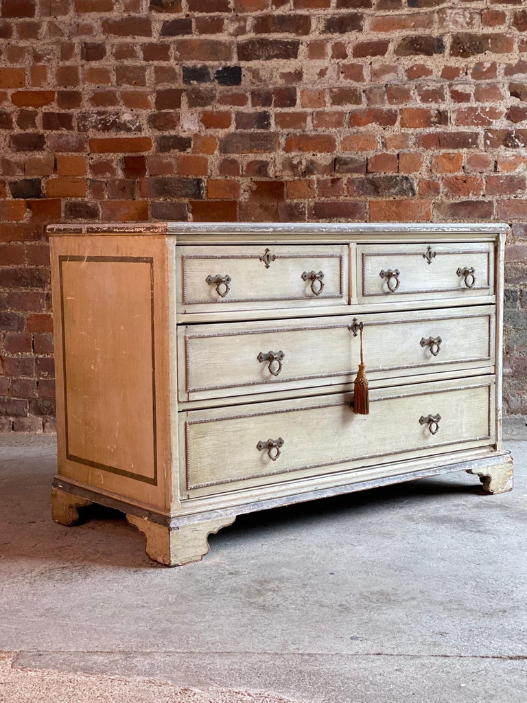Antique Gustavian chest of drawers commode Swedish 19th century circa 1870  A magnificent 19th century Swedish Gustavian four drawer chest of drawers circa 1870, the rectangular top sitting above two short over two long drawers, the drawer fronts
