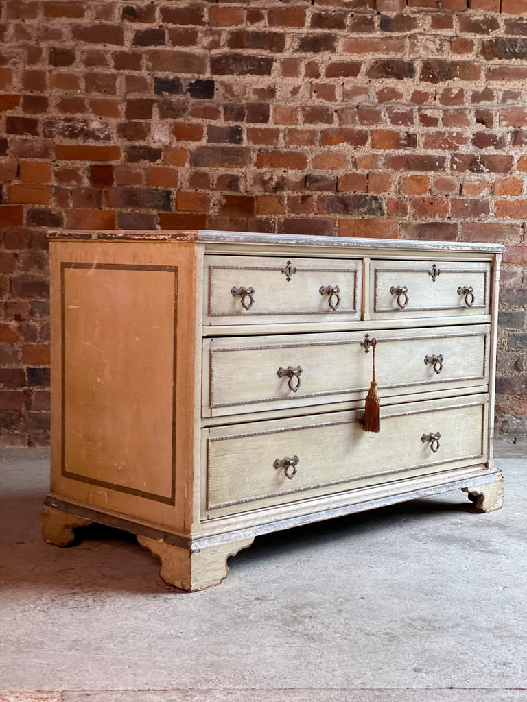 Antique Gustavian Chest of Drawers Commode, Swedish, 19th Century, circa 1870 In Distressed Condition For Sale In Longdon, Tewkesbury