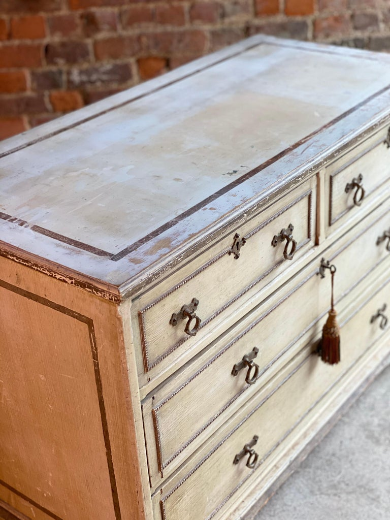 Wood Antique Gustavian Chest of Drawers Commode, Swedish, 19th Century, circa 1870 For Sale