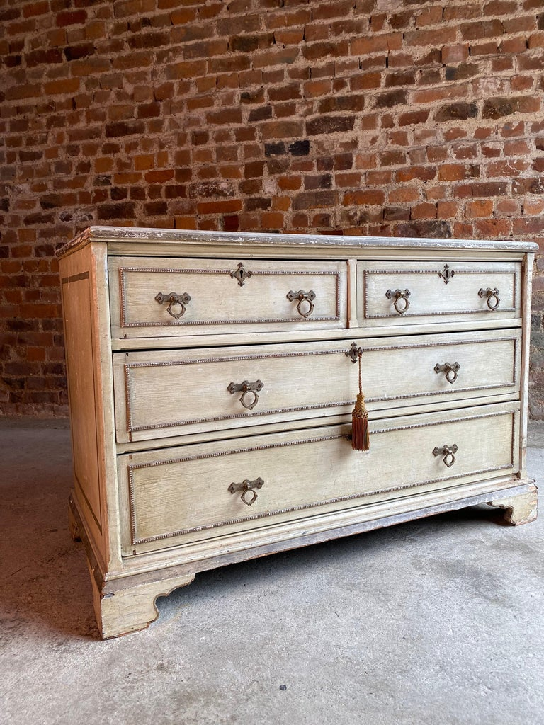 Wood Antique Gustavian Chest of Drawers Commode Swedish, 19th Century, circa 1870